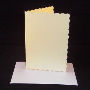 A5 Cream Scalloped Greeting Card Blanks With Envelopes